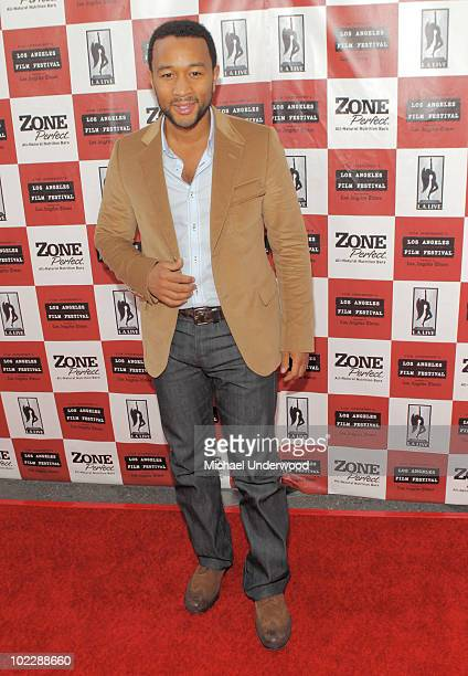 Singer John Legend arrives at the screening of Paramount Pictures' Waiting For Superman held at Regal Cinemas LA Live Stadium 14 on June 21 2010 in...