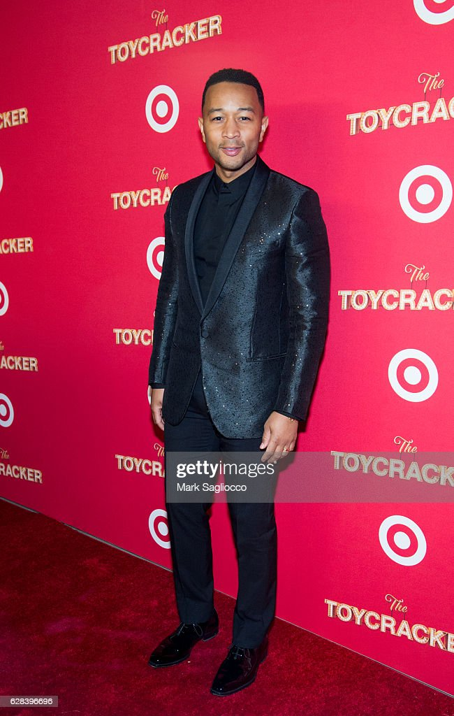 Singer John Legend attends Target's Toycracker Premiere Event at Spring Studios on December 7, 2016 in New York City.