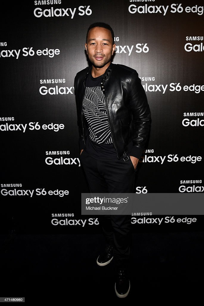Singer John Legend attends the Samsung Studio LA Launch Event across from the Grove on April 28, 2015 in Los Angeles, California.