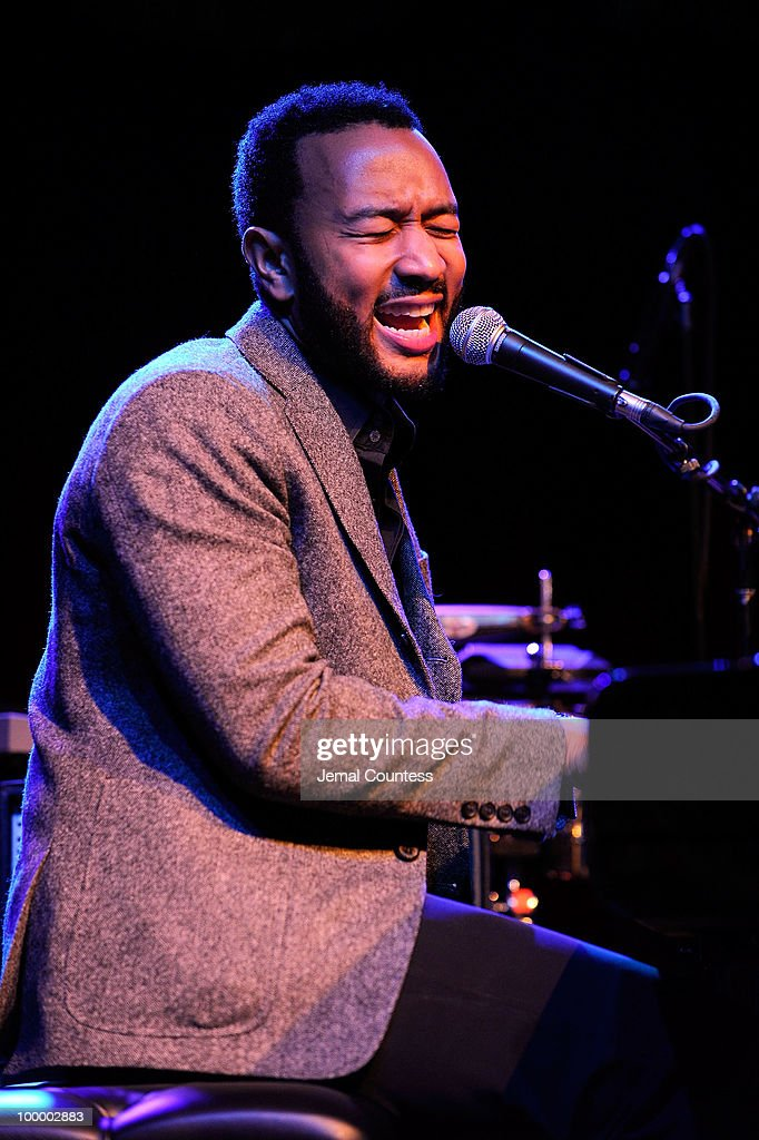 Singer John Legend performs at the Cherry Lane Music Publishing's 50th Anniversary celebration at Brooklyn Bowl in Brooklyn on May 19, 2010 in New York City.
