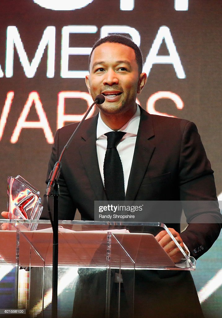Singer John Legend speaks onstage during the Hamilton Behind The Camera Awards presented by Los Angeles Confidential Magazine at Exchange LA on November 6, 2016 in Los Angeles, California. at Exchange LA on November 6, 2016 in Los Angeles, California.
