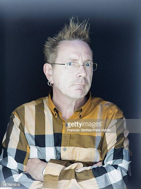 Singer John Lydon aka Johnny Rotten is photographed for Paris Match on October 22 2013 in Paris France