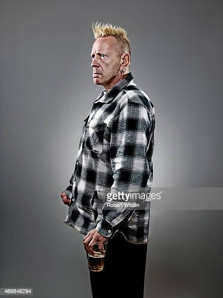 Singer John Lydon is photographed for the Times on October 6 2014 in London England