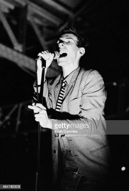 Singer John Lydon performing with Public Image Ltd at the Queen's Hall Leeds 8th September 1979