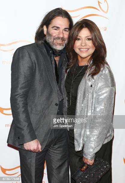 Singer John M Cusimano and TV personality Rachael Ray attend the 2017 A Funny Thing Happened on the Way to Cure Parkinson's event at the Hilton New...
