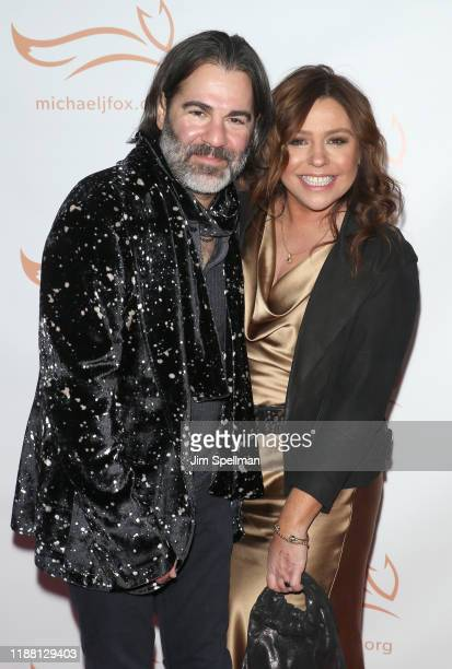 Singer John M Cusimano and TV Personality Rachael Ray attend the 2019 A Funny Thing Happened On The Way To Cure Parkinson's at the Hilton New York on...