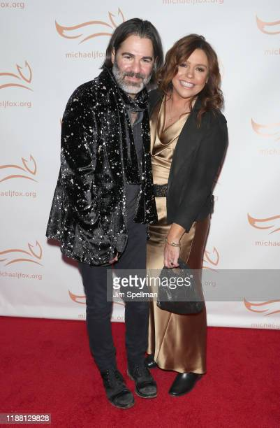 Singer John M. Cusimano and TV Personality Rachael Ray attend the 2019 A Funny Thing Happened On The Way To Cure Parkinson's at the Hilton New York...