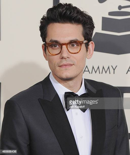 Singer John Mayer arrives at the 57th GRAMMY Awards at Staples Center on February 8 2015 in Los Angeles California