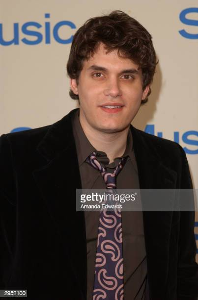 Singer John Mayer arrives at the Sony Music Entertainment PostGrammy Party at Maple Drive Restaurant on February 8 2004 in Beverly Hills California