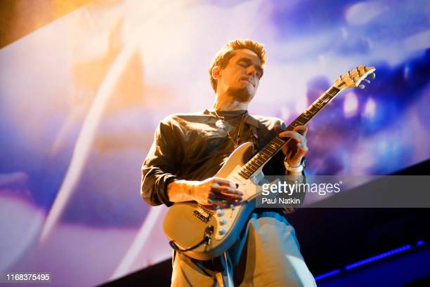 Singer John Mayer performs on stage at the United Center in Chicago, Illinois, July 14, 2019.