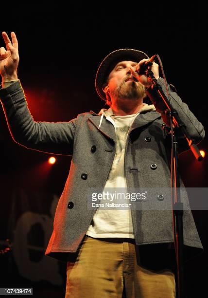 Singer John McCrea of the band Cake performs at WaMu Theater on December 8, 2010 in Seattle, Washington.