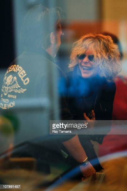 Singer John Mellencamp and actress Meg Ryan enter the Whitney Museum on January 5 2011 in New York City