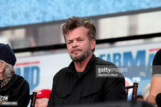 Singer John Mellencamp attends the press conference at FirstMerit Bank Pavilion at Northerly Island during 'Farm Aid 30' on September 19 2015 in...