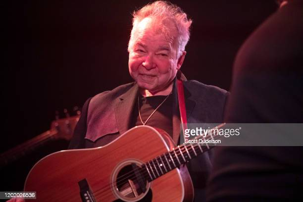 Singer John Prine recipient of the 2020 Recording Academy's Lifetime Achievement Award performs onstage during AMERICANAFEST's PreGRAMMY Salute to...