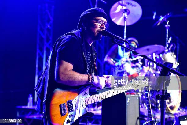 Singer John Sambataro former singer of the classic rock and Firefall performs onstage at The Rose on September 28 2018 in Pasadena California