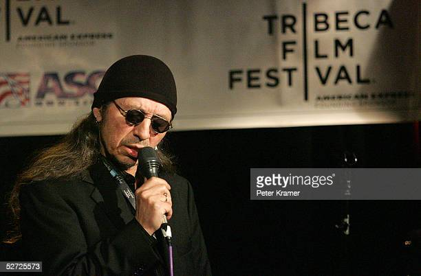 Singer John Trudell performs during the Tribeca Film Festival ASCAP Music Lounge The ASCAP Music Lounge is dedicated to showcasing the exceptional...