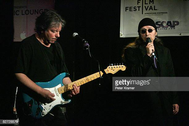 Singer John Trudell performs during the Tribeca Film Festival ASCAP Music Lounge. The ASCAP Music Lounge is dedicated to showcasing the exceptional...