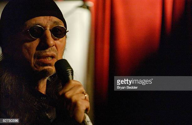 Singer John Trudell performs during the Tribeca Film Festival Music Panel at The ASCAP Lounge The ASCAP Music Lounge is dedicated to showcasing the...