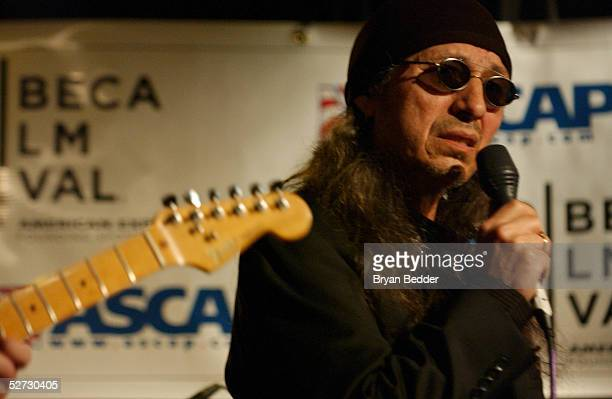 Singer John Trudell performs during the Tribeca Film Festival Music Panel at The ASCAP Lounge. The ASCAP Music Lounge is dedicated to showcasing the...