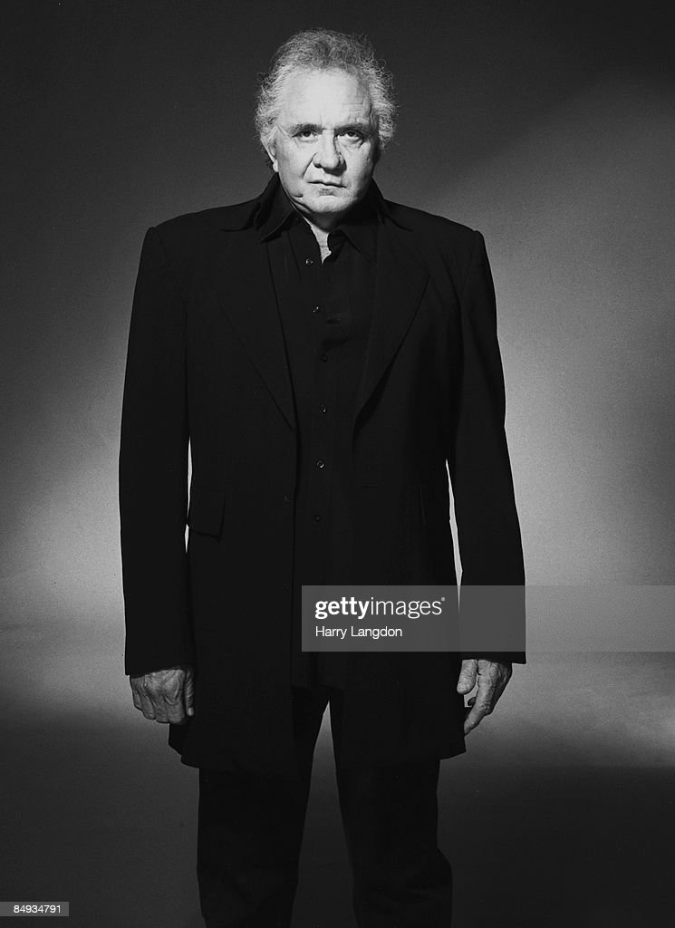 Singer Johnny Cash poses for a portrait in 2002 in Los Angeles, California.