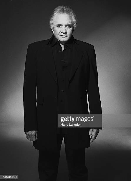 Singer Johnny Cash poses for a portrait in 2002 in Los Angeles California