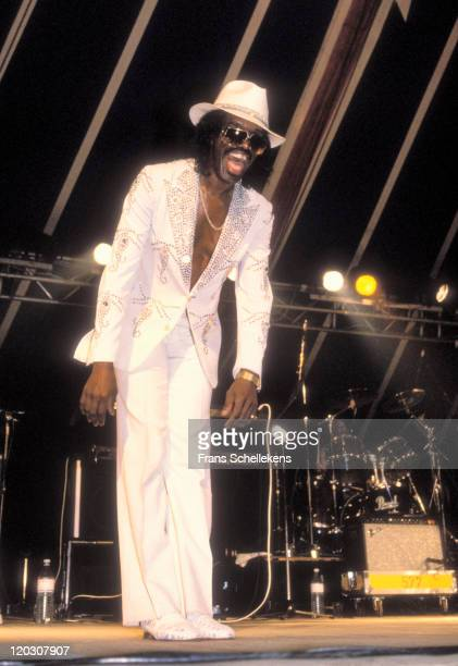 singer Johnny 'Guitar' Watson at the North Sea Jazz festival in the Congresgebouw The Hague Netherlands on 11th july 1990