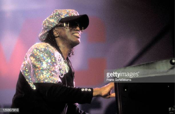 Singer Johnny 'Guitar' Watson performs live on stage at Paradiso in Amsterdam Netherlands on 19th April 1996