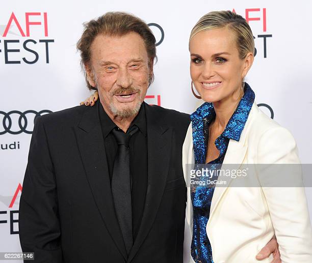 Singer Johnny Hallyday and actress/wife Laeticia Hallyday arrive at AFI FEST 2016 Presented By Audi Opening Night Premiere Of 20th Century Fox's...