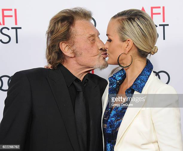 Singer Johnny Hallyday and wife/actress Laeticia Hallyday arrive at AFI FEST 2016 Presented By Audi Opening Night Premiere Of 20th Century Fox's...