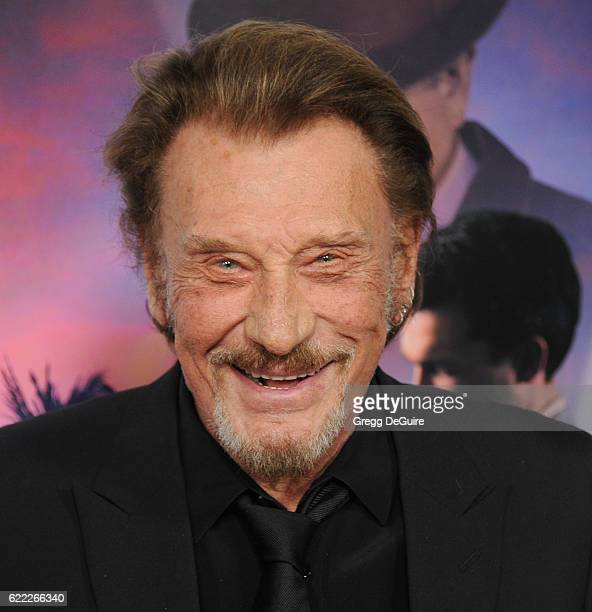 """Singer Johnny Hallyday arrives at AFI FEST 2016 Presented By Audi - Opening Night - Premiere Of 20th Century Fox's """"Rules Don't Apply"""" at TCL Chinese..."""