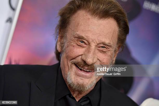 Singer Johnny Hallyday arrives at AFI FEST 2016 Presented by Audi Opening Night Premiere of 20th Century Fox's 'Rules Don't Apply' at TCL Chinese...