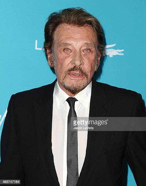 Singer Johnny Hallyday attends the 17th Costume Designers Guild Awards at The Beverly Hilton Hotel on February 17 2015 in Beverly Hills California