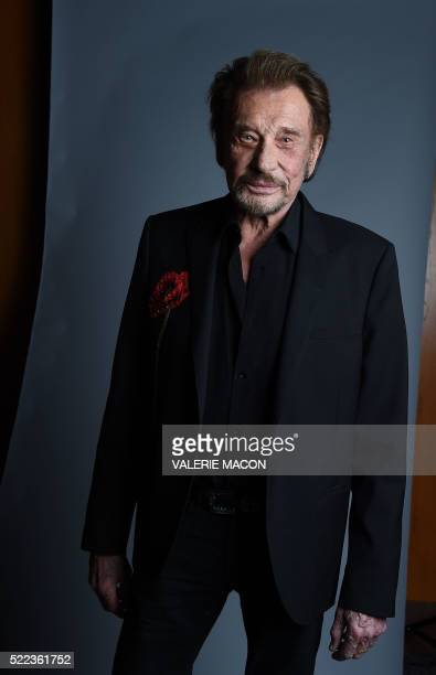 Singer Johnny Hallyday attends the 20th annual COLCOA French Film Festival Opening Night at the Directors Guild of America in West Hollywood...