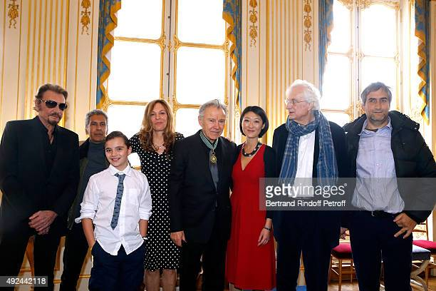 Singer Johnny Hallyday Director Rachid Bouchareb Actor Harvey Keitel with his wife Daphna Kastner their son Roman Keitel French minister of Culture...
