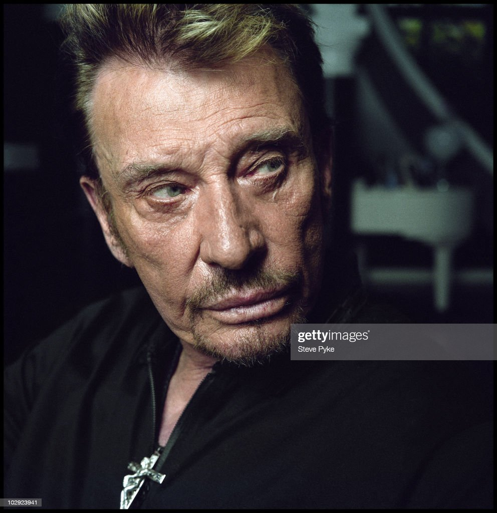Singer Johnny Hallyday is photographed for Le Monde 2 on April 11, 2009 in Los Angeles, California.