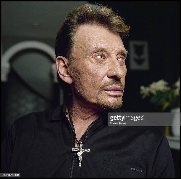 Singer Johnny Hallyday is photographed for Le Monde 2 on April 11 2009 in Los Angeles California
