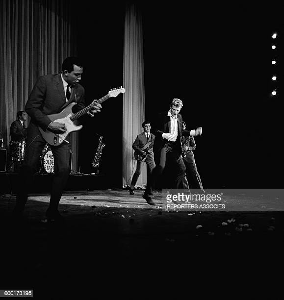 Singer Johnny Hallyday On Stage At The Olympia Concert Hall In Paris France Circa 1960