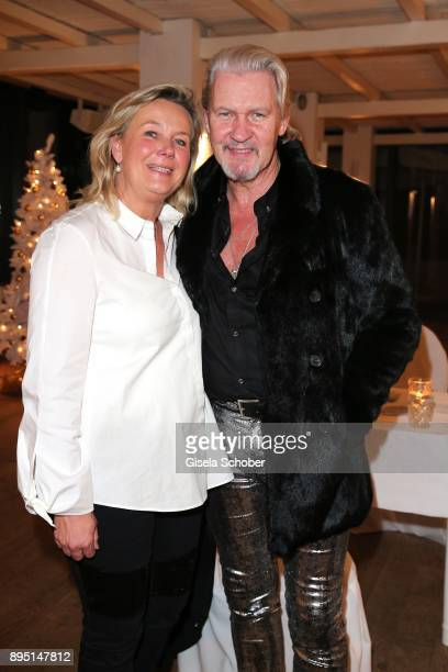 Singer Johnny Logan and his wife Ailis Sherrard during the annual Christmas Roast Kid Dinner on December 18 2017 in Munich Germany
