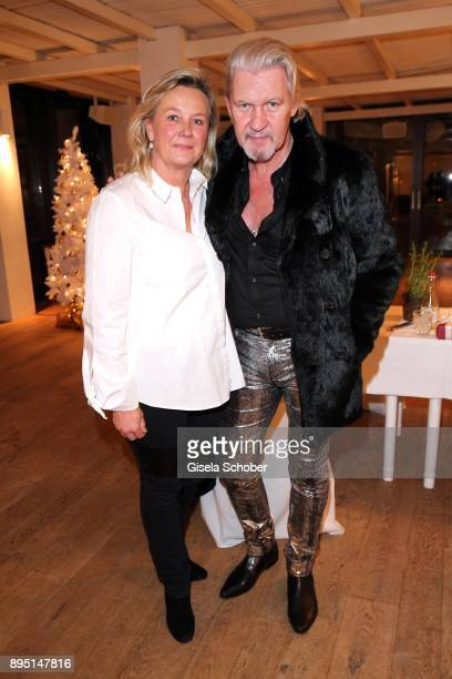 Singer Johnny Logan and his wife Ailis Sherrard during the annual Christmas Roast Kid Dinner on December 18, 2017 in Munich, Germany.