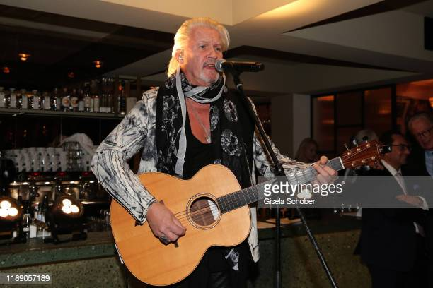 Singer Johnny Logan during the annual christmas roast kid dinner at Reitschule on December 16 2019 in Munich Germany