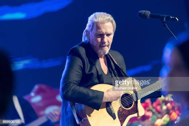 Singer Johnny Logan during the New Year's Eve tv show hosted by Joerg Pilawa on December 30, 2017 in Graz, Austria.