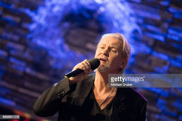 Singer Johnny Logan performs during the New Year's Eve tv show hosted by Joerg Pilawa on December 30 2017 in Graz Austria