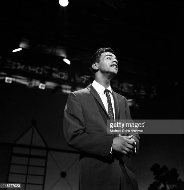 Singer Johnny Mathis performs on The Ed Sullivan on June 16 1957 in New York City New York
