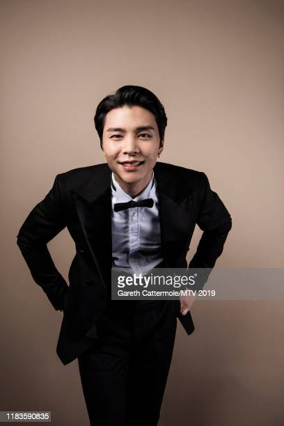Singer Johnny of boy band NCT 127 pose for a portrait at the MTV EMAs 2019 studio at FIBES Conference and Exhibition Centre on November 3 2019 in...