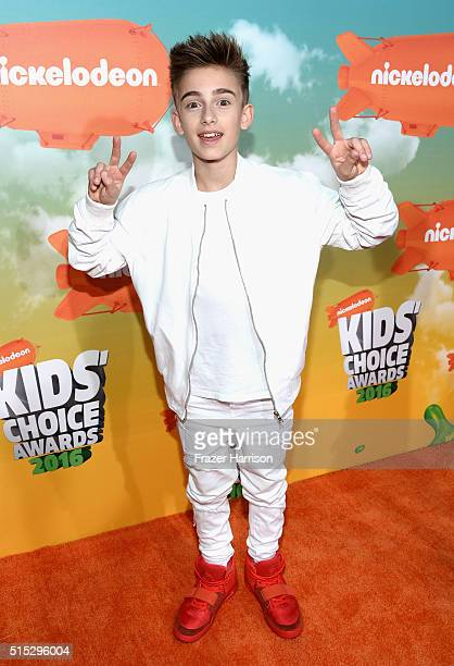 Singer Johnny Orlando attends Nickelodeon's 2016 Kids' Choice Awards at The Forum on March 12 2016 in Inglewood California