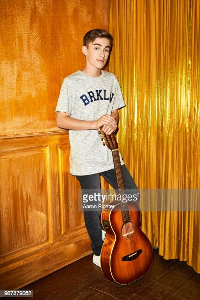 Singer Johnny Orlando is photographed for Tiger Beat Magazine on November 25 2017 at Sid's Gold Request Room in New York City