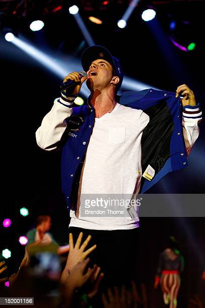 Singer Johnny Ruffo performs during the matinee Nickelodeon Slimefest 2012 show at Hordern Pavilion on September 15 2012 in Sydney Australia