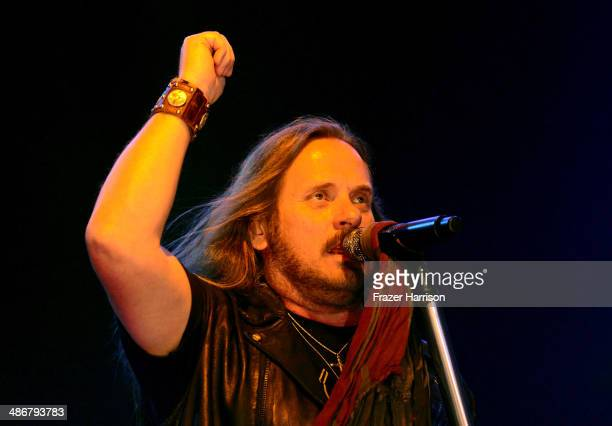 Singer Johnny Van Zant of Lynyrd Skynyrd performs onstage during day 1 of 2014 Stagecoach California's Country Music Festival at the Empire Polo Club...