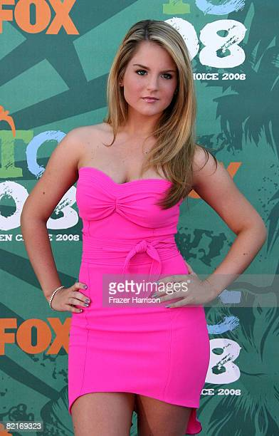 Singer Jojo arrives at the 2008 Teen Choice Awards at Gibson Amphitheater on August 3 2008 in Los Angeles California