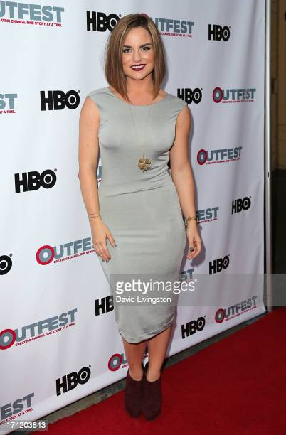 Singer JoJo attends the 2013 Outfest Film Festival Closing Night Gala of 'GBF' at the Ford Theatre on July 21 2013 in Hollywood California